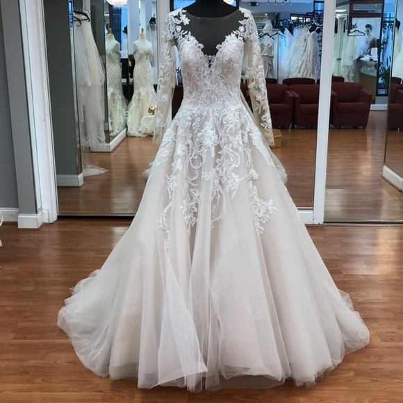 3575836d36b Allure Bridals Dresses | Champagne Wedding Gown With Sequins | Poshmark